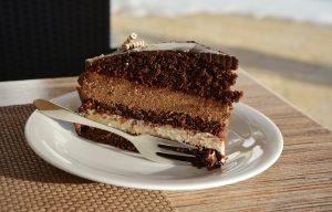 cake, chocolate cake, cafe